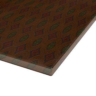 Brown, Red & Green Diamonds Cutting Board