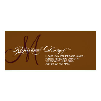 Brown Rehearsal Dinner Invitation Monogram