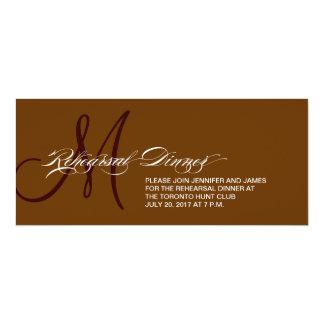 Brown Rehearsal Dinner Invitation Monogram