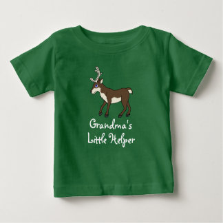 Brown Reindeer with Antlers Baby T-Shirt