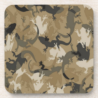 Brown Reptile Camouflage Coasters