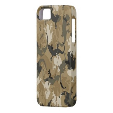 Brown Reptile Camouflage iPhone 5G Case