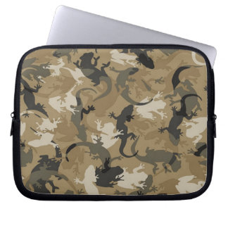 Brown Reptile Camouflage Laptop Sleeve