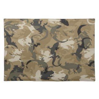 Brown Reptile Camouflage Placemat