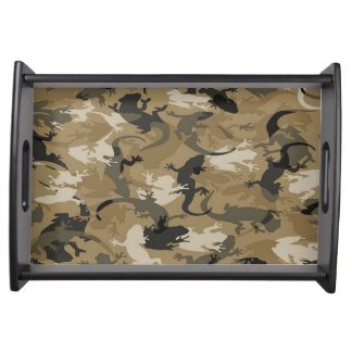 Brown Reptile Camouflage Serving Tray