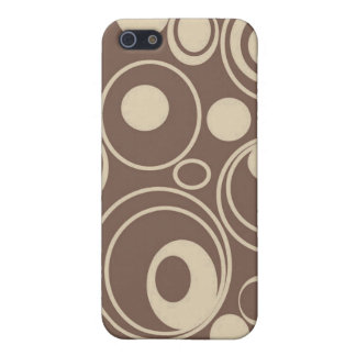 Brown Retro Circles Case For iPhone SE/5/5s