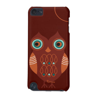 Brown Retro Cute Owl iPod Touch 5 Case