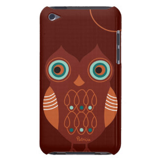 Brown Retro Cute Owl iPod Touch Case