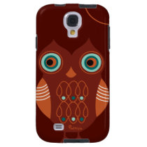 Brown Retro Cute Owl Samsung Galaxy S4  Case