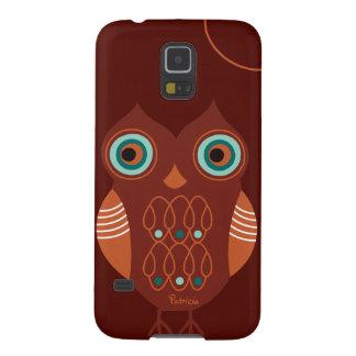 Brown Retro Cute Owl Samsung Galaxy S5 Case