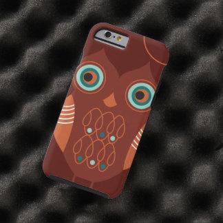 Brown Retro Cute Owl Tough iPhone 6 Case