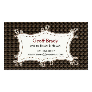 Brown Retro Daddy Card Double-Sided Standard Business Cards (Pack Of 100)