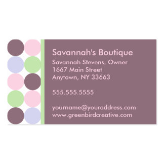 Brown Retro Dots business card