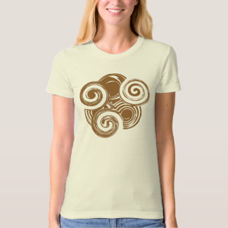 Brown Retro Swirl T-Shirt