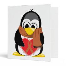 Brown Ribbon Penguin Scarf Binder