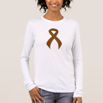 Brown Ribbon Support Awareness Long Sleeve T-Shirt