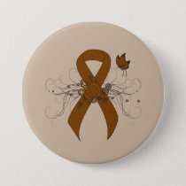 Brown Ribbon with Butterfly Button