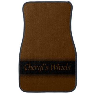 Brown Ribboned Personalized Floor Mat