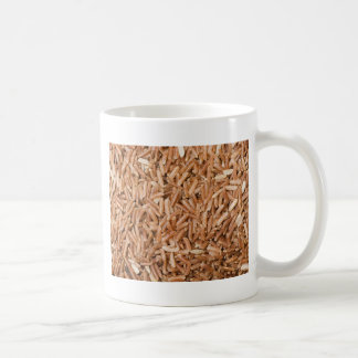 Brown rice grain texture coffee mugs