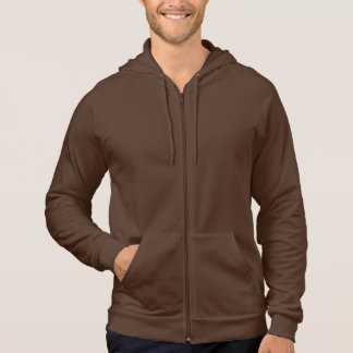 Brown Rifle Zip-Up Sweat Shirt