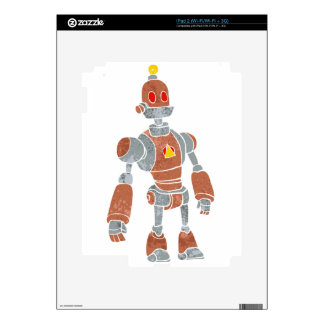 brown robot with lamp head decal for iPad 2