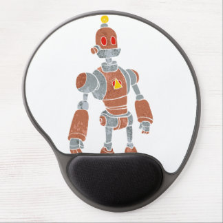 brown robot with lamp head gel mouse pad