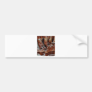 brown rock erosion towers bumper sticker
