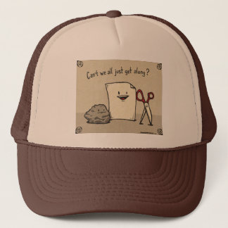 Brown Rock Paper Scissors Hat
