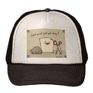 Brown Rock Paper Scissors Hat