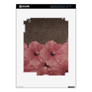 Brown rosa claro florece II Pegatinas Skins Para iPad 3