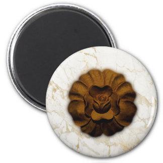 Brown Rosette Magnet