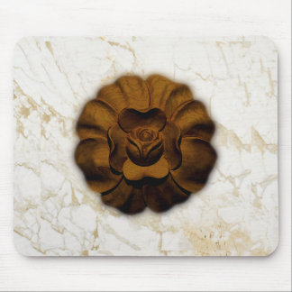 Brown Rosette Mouse Pad