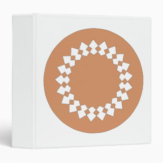Brown Round Wheel Pattern Graphic Design. Binder