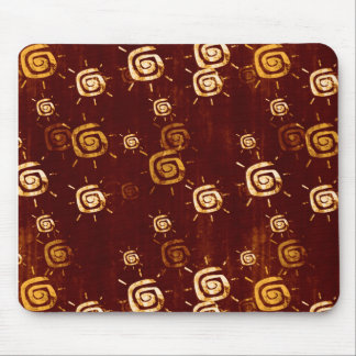 Brown Rust Grungy Summer Sun Mouse Pad