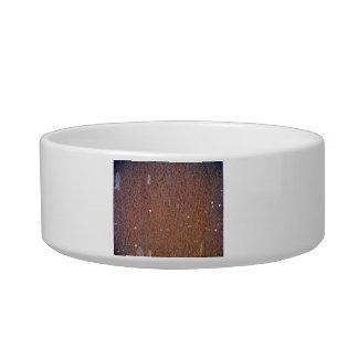Brown Rust Metal Texture Pet Bowls