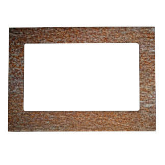 Brown Rusted Metal Corrosion Pattern Magnetic Picture Frame