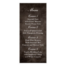 brown rustic mason jar wedding menu