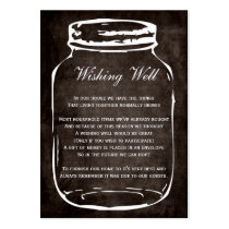 brown rustic mason jar wishing well cards large business card