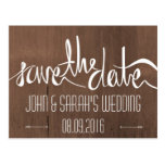 Brown Rustic Modern Save The Date Cards Postcards