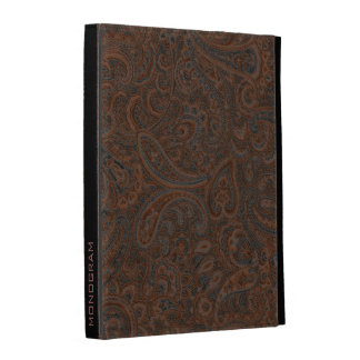 Brown Rustic Vintage Paisley Pattern iPad Case