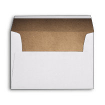 Brown Rustic Wedding Envelope