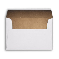 Brown Rustic Wedding Envelope at Zazzle