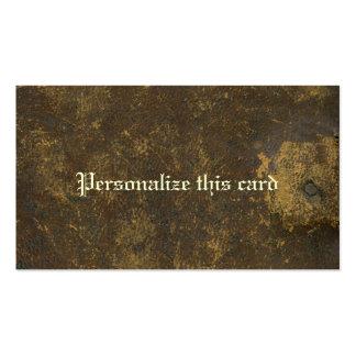 Brown rústico envejeció la antigüedad del cuero tarjetas de visita