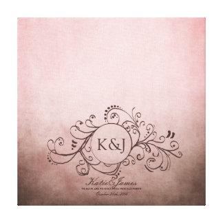 Brown rústico y lona bohemia rosada del libro de v lienzo envuelto para galerias