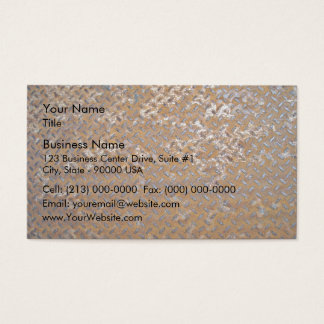 Brown Rusty Metal Tread Texture Business Card