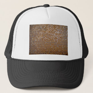 Brown Rusty Metal Tread Texture Trucker Hat