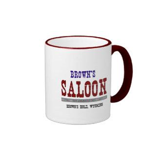 Brown s Saloon Coffee Mugs