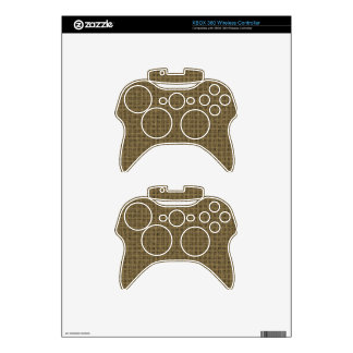 Brown Sackcloth Weave Pattern Texture Background Xbox 360 Controller Decal