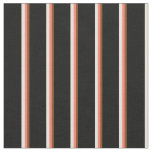 [ Thumbnail: Brown, Salmon, Beige, and Black Colored Lines Fabric ]