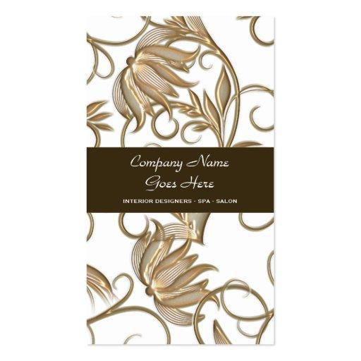 Brown salon spa hair stylist business card template